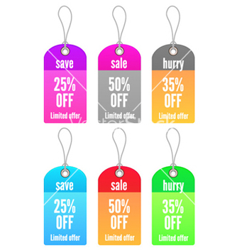 Free colorful shopping tags set vector - Kostenloses vector #254143