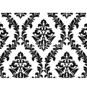 Free damask seamless pattern vector - vector gratuit #254303