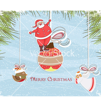Free christmas greeting card vector - Kostenloses vector #254663