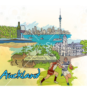 Free auckland doodles vector - Free vector #254853