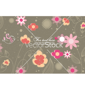 Free bird with floral vector - Kostenloses vector #255033