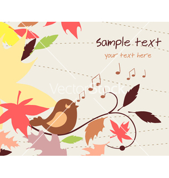 Free bird singing vector - Kostenloses vector #255053