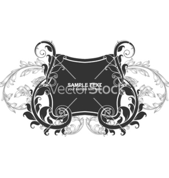 Free vintage label with floral vector - Kostenloses vector #255083