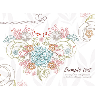 Free abstract floral background vector - бесплатный vector #255103