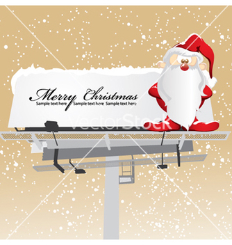 Free santa on billboard vector - vector gratuit #255343