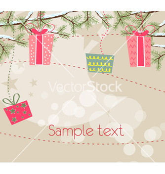 Free christmas greeting card vector - Kostenloses vector #255383