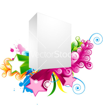 Free blank 3d box with stars vector - vector gratuit #255403