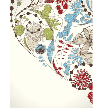 Free doodles floral background vector - Free vector #255493