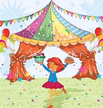 Free kids birthday party vector - Kostenloses vector #255543