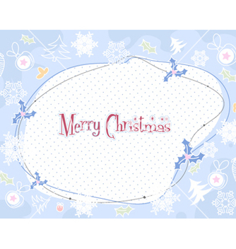 Free christmas frame vector - Free vector #255553