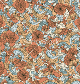 Free retro floral seamless pattern vector - Kostenloses vector #255813
