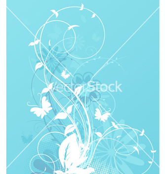 Free spring floral background vector - Free vector #255943