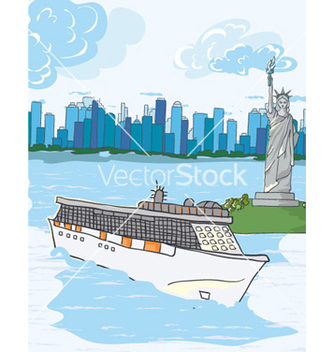 Free cartoon new york background vector - бесплатный vector #256063