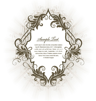 Free vintage label with floral vector - Kostenloses vector #256363