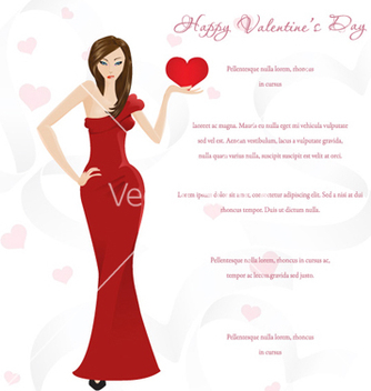 Free valentines glamour background vector - vector gratuit #256393