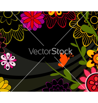 Free abstract floral background vector - Free vector #256403