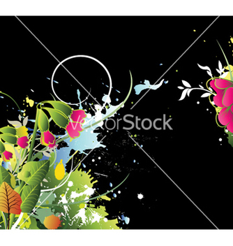 Free watercolor floral background vector - бесплатный vector #256423