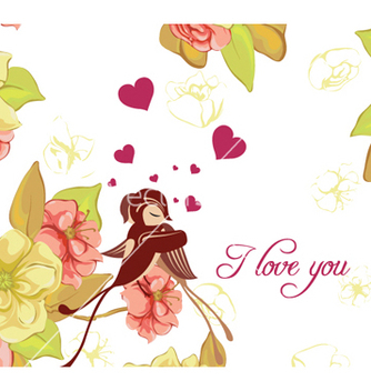 Free love birds vector - vector #256623 gratis