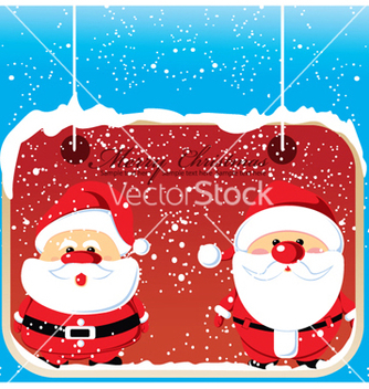Free christmas greeting card vector - Kostenloses vector #256643
