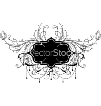 Free vintage label with floral vector - Kostenloses vector #256693