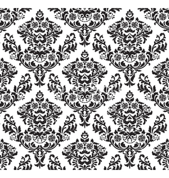 Free damask seamless background vector - Free vector #256813