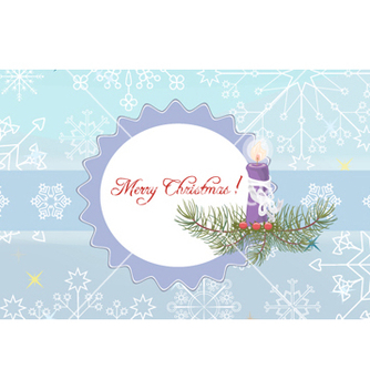Free candle with snowflakes vector - Free vector #256823