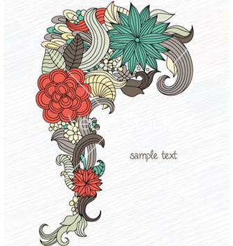 Free retro floral background vector - vector gratuit #256873