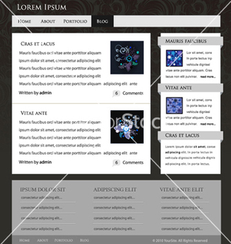 Free website template vector - vector gratuit #256953