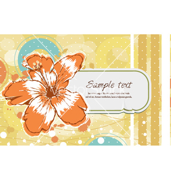 Free colorful floral frame vector - бесплатный vector #257023