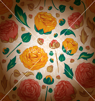 Free colorful floral pattern vector - vector #257093 gratis