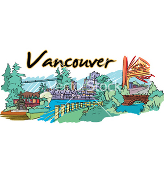 Free vancouver doodles vector - Free vector #257143