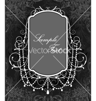 Free abstract floral frame vector - Free vector #257153