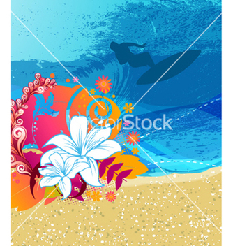 Free summer background vector - Free vector #257253