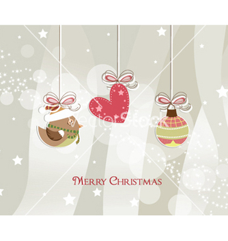 Free christmas greeting card vector - Kostenloses vector #257313