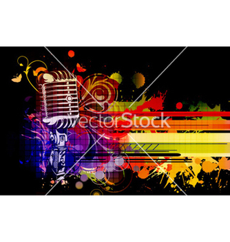 Free colorful concert poster vector - Free vector #257393