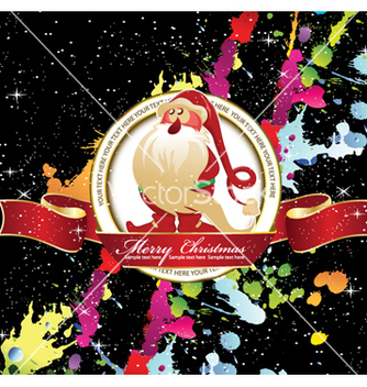 Free christmas label with splash vector - бесплатный vector #257493