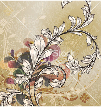 Free vintage floral background vector - Free vector #257523