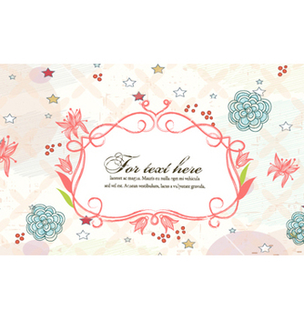 Free frame with floral vector - Free vector #257603