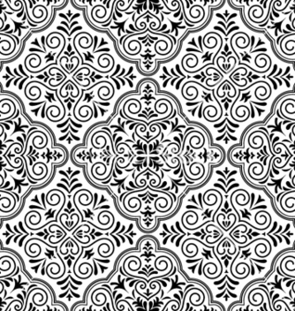 Free arabesque seamless pattern vector - Free vector #257613