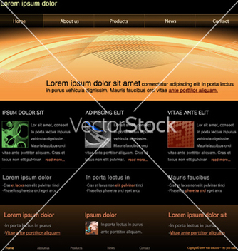 Free website template vector - Free vector #257953