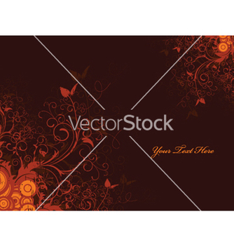 Free autumn floral background vector - Free vector #258023