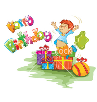 Free kids birthday party vector - Free vector #258033