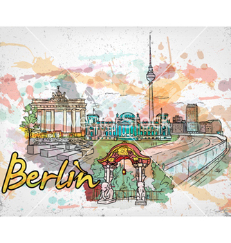 Free berlin doodles vector - бесплатный vector #258143
