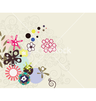 Free abstract background with floral vector - Kostenloses vector #258193