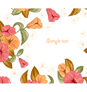 Free spring colorful floral background vector - Kostenloses vector #258273