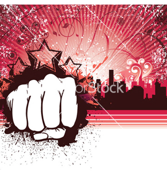 Free urban background with fist vector - Free vector #258423