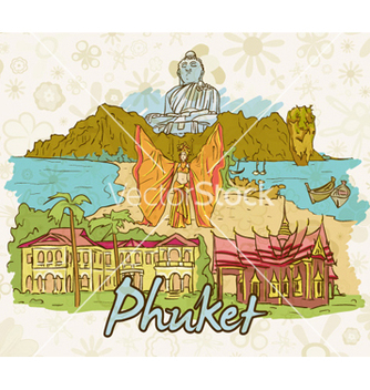 Free phuket doodles vector - Free vector #258453