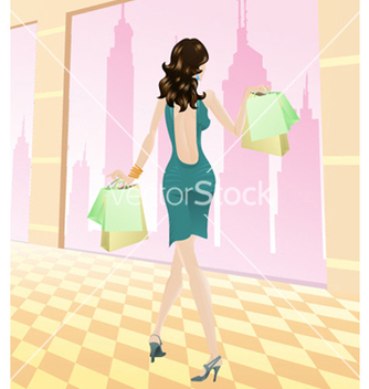 Free shopping girl vector - Kostenloses vector #258633
