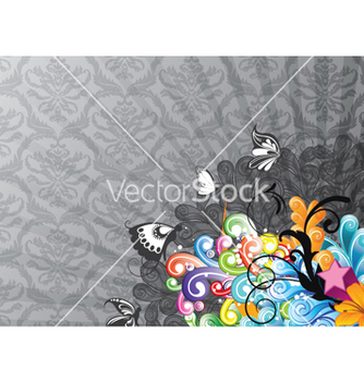 Free colorful abstract background with butterflies vector - Free vector #258673