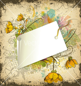 Free floral with shopping tag vector - vector gratuit #258813